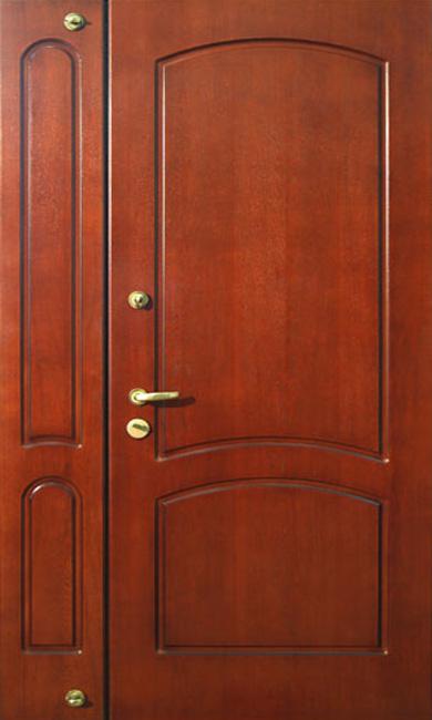 дверь двупольная железная